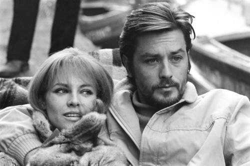 Alain Delon wallpaper possibly with a fur coat called Alain and Nathalie Delon