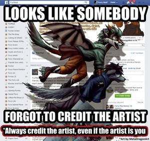 Always remember to credit the artist