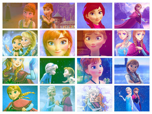 Anna and Elsa collage
