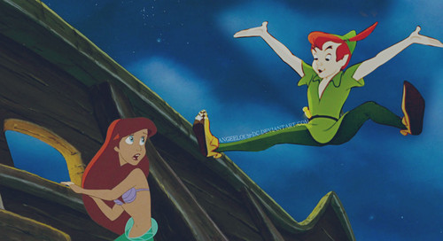 Disney Crossover Wallpaper Called Ariel Peter Pan