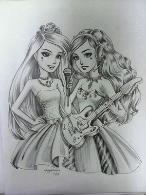 búp bê barbie Rock n Royals Fanart