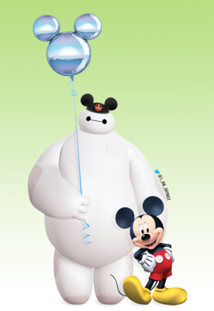 Baymax and Mickey