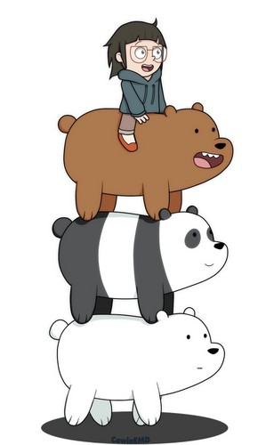 We Bare Bears wallpaper probably with Anime entitled BearStack with Chloe