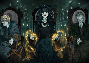 """Bellatrix, """"sitting on the chair as if it were a throne"""""""
