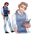 Belle as a boy - beauty-and-the-beast fan art
