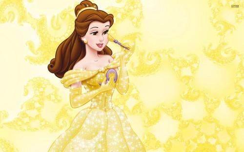 Disney Princess پیپر وال titled Belle