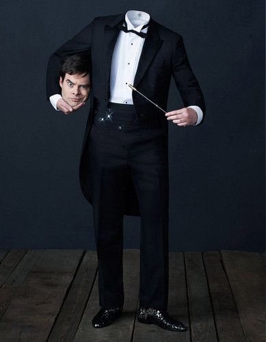 Bill Hader kertas dinding containing a business suit, a suit, and a well dressed person titled Bill Hader - Playboy Photoshoot - 2013