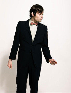 Bill Hader wolpeyper with a business suit, a suit, and a single breasted suit titled Bill Hader - Time Out New York Photoshoot - March 2009