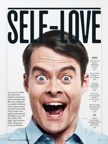 Bill Hader wallpaper possibly containing a newspaper, a portrait, and animê entitled Bill Hader in New York Magazine - February 2013