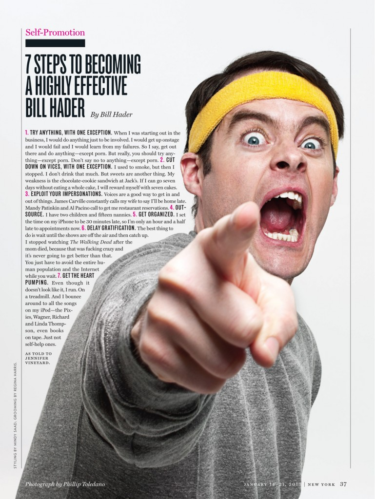 Bill Hader in New York Magazine - February 2013