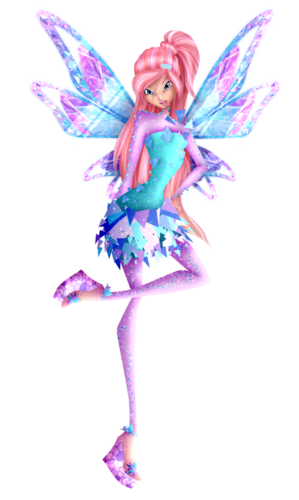 El Club Winx fondo de pantalla containing a camellia, a beardless iris, and a begonia titled Bloom Tynix (PNG Version)