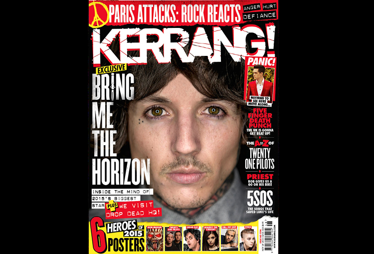 Bring Me The Horizon cover in Kerrang Magacine