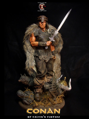 Calvin's Custom 1:6 one sixth scale Arnold Schwarzenegger as CONAN the Barbarian custom figure art (
