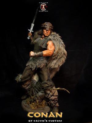 Calvin's Custom 1:6 one sixth scale Arnold Schwarzenegger as CONAN the Barbarian custom figure art (