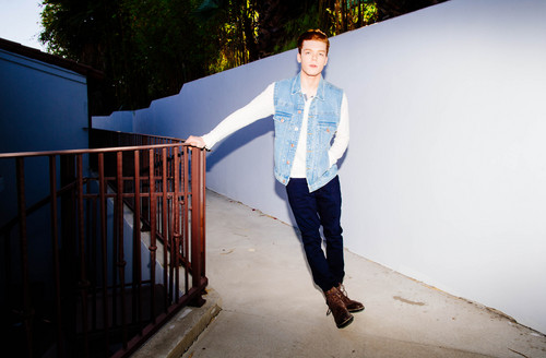 Cameron Monaghan achtergrond probably containing a business suit, long trousers, and a well dressed person entitled Cameron Monaghan - Bellus Magazine Photoshoot - April 2014