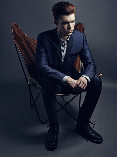 Cameron Monaghan achtergrond containing a business suit, a suit, and a well dressed person titled Cameron Monaghan - Benjo Arwas Photoshoot - 2015