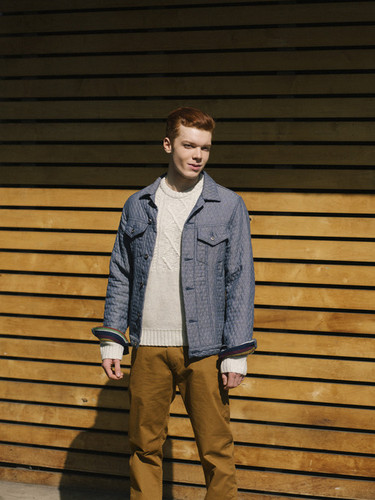 Cameron Monaghan kertas dinding probably with a business suit, a hip boot, and an outerwear called Cameron Monaghan - Zooey Magazine Photoshoot - February 2014
