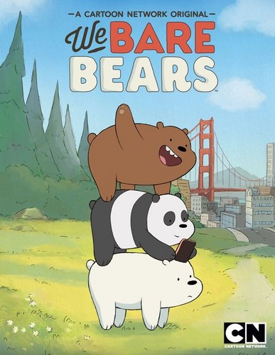 We Bare Bears karatasi la kupamba ukuta containing anime called Cartoon Network's We Bare Bears Poster
