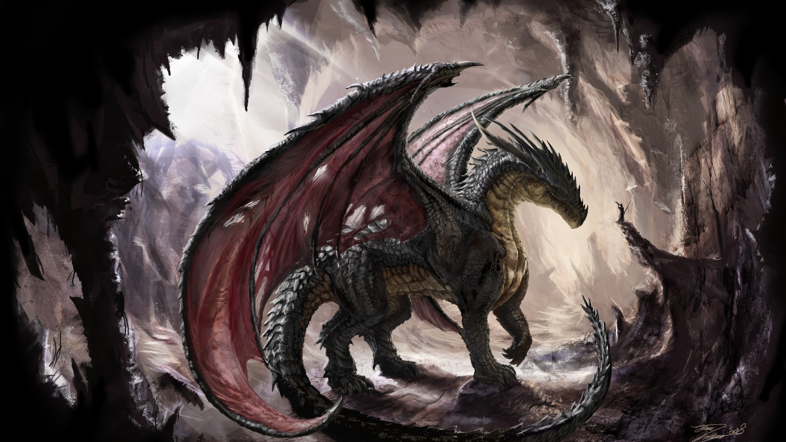 dragons images cave dragon hd wallpaper and background photos (39057400)