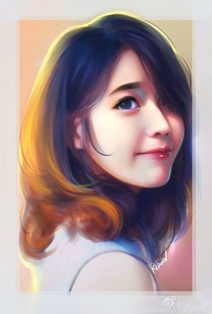 Cute IU Fan Art by Fin