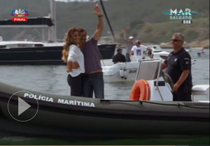 Daniel and Eva on a ship