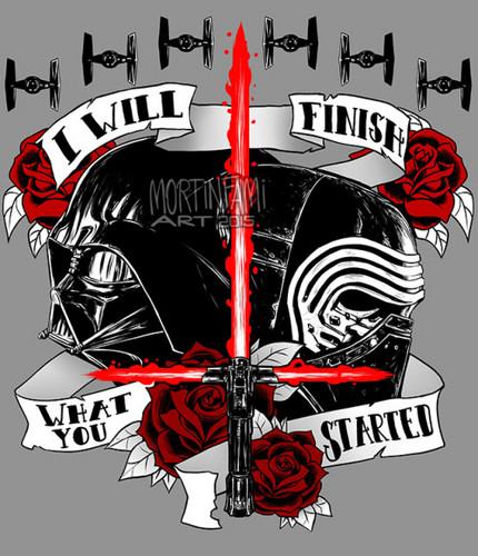 étoile, étoile, star Wars fond d'écran entitled Darth Vader and Kylo Ren
