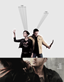 Dean and Abaddon - supernatural fan art