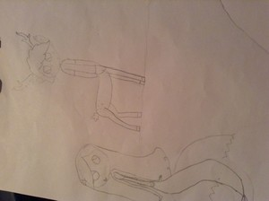 Deer-per and Mermabel, I drew this