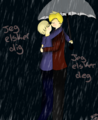 DenNor In The Rain  - hetalia-couples photo