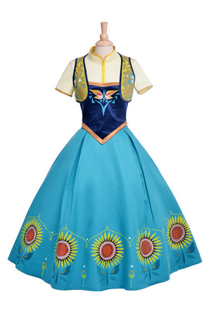 迪士尼 《冰雪奇缘》 Anna Fever Dress Anna Fever Cosplay Costumes
