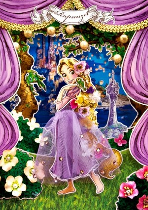 迪士尼 Postcard - Rapunzel