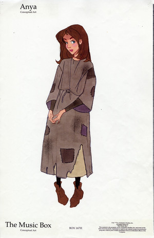 Early Anya character designs for Công chúa Anastasia