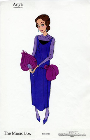 Early Anya character designs for ऐनस्टेशिया
