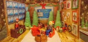 Ellens Gingerbread Stage Set
