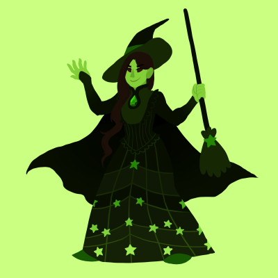 Wicked wallpaper probably containing a parasol entitled Elphaba Gem