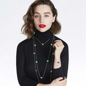 Emilia Clarke at Dior's Rose des Vents jewellery collection
