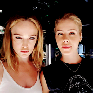 Emily and Caity - BTS