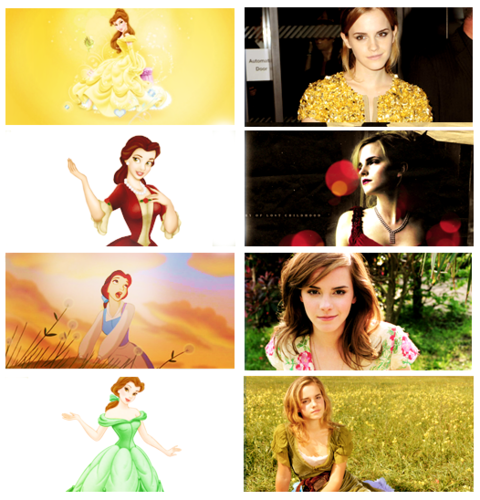 Beauty and the Beast (2017) wallpaper possibly with a portrait entitled Emma as Belle ♥