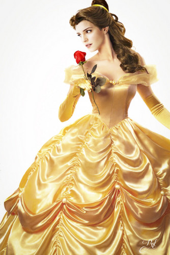 Beauty and the Beast (2017) hình nền entitled Emma as Belle ♥