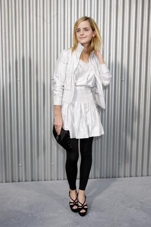 Emma at Paris Fashion Week