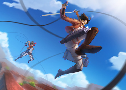Shingeki no Kyojin (Attack on Titan) Hintergrund possibly with a japanese aprikose entitled Eren