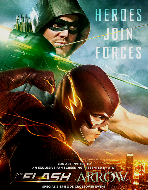 The flash cw flarrow crossover poster