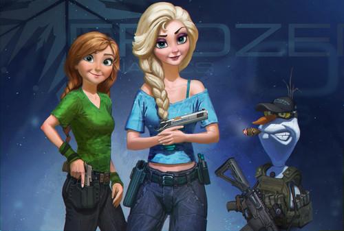 Elsa und Anna Hintergrund called Frozen Dynamics