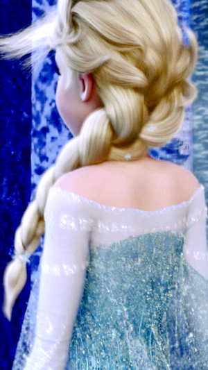 Frozen - Elsa phone karatasi la kupamba ukuta