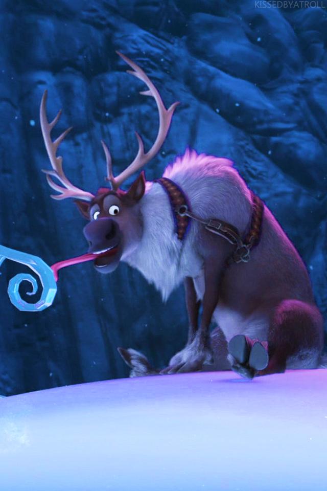 La Reine des Neiges phone fond d'écran - Olaf and Sven ...