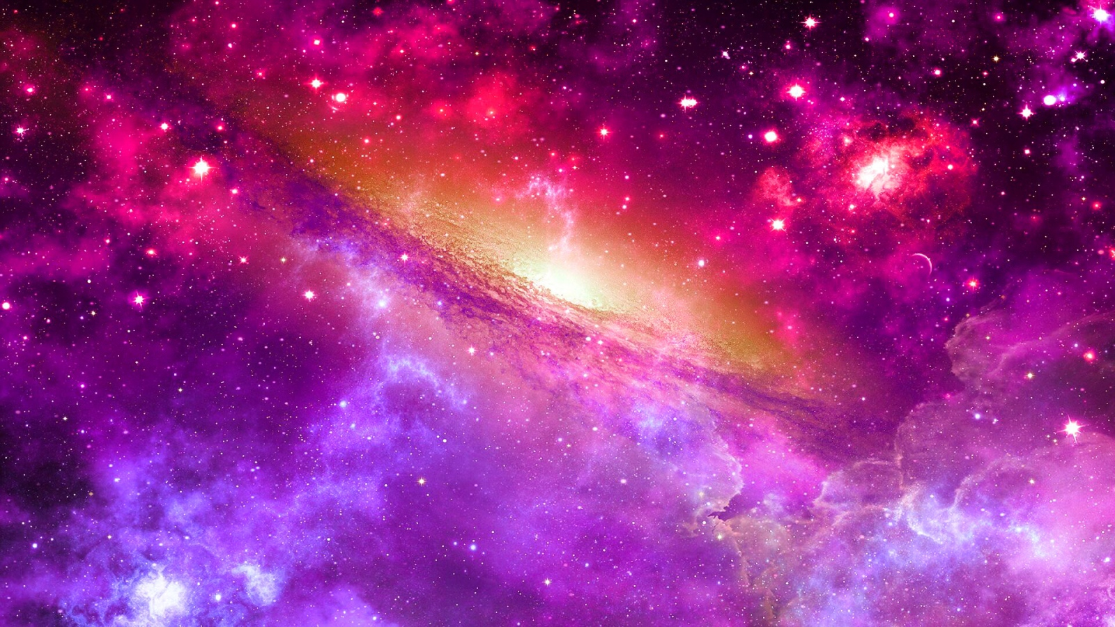 Galaxy Through a Nebula