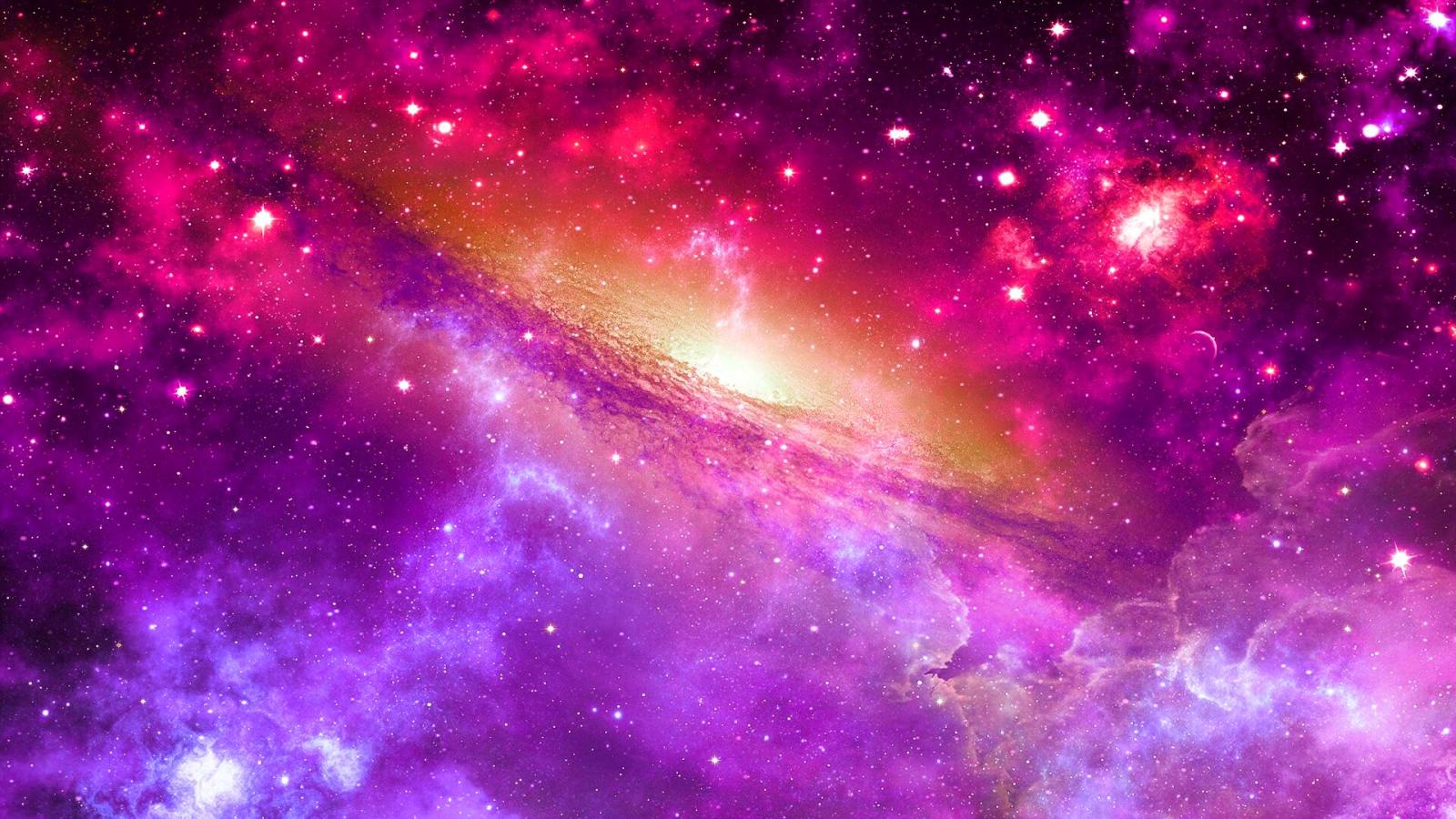 Galaxy Through a Nebula