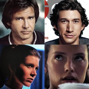 Han,Leia,Kylo and Rey