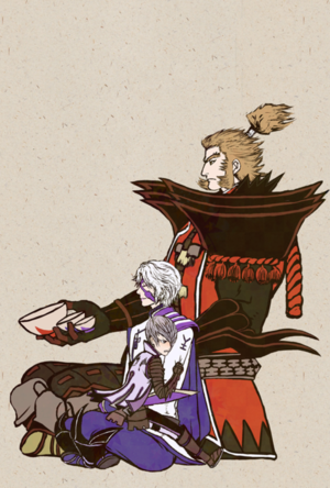 Hanbei Takenaka, Toyotomi Hideyoshi, and Ishida Mitsunari