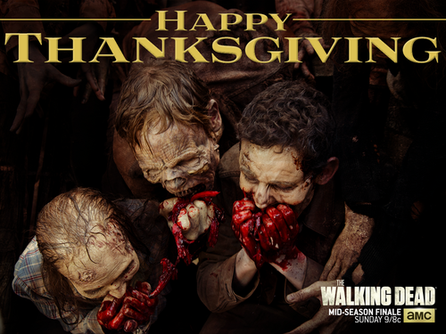 The Walking Dead karatasi la kupamba ukuta with anime titled Happy Thanksgiving!